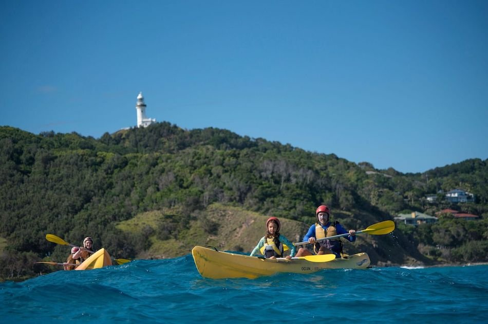 Kayak with the Dolphins in Majestic Byron Bay Group Tour