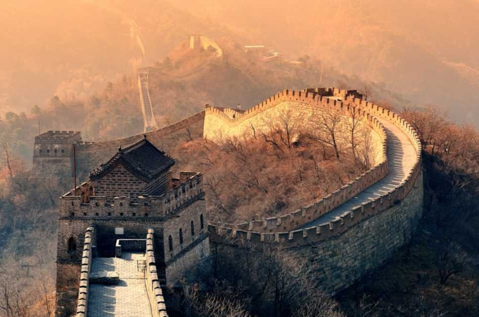 Panoramic View of the Mutianyu Great Wall by Helicopter Private Tour in Beijing