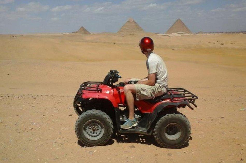 Desert Safari by Quad Bike Around Pyramids