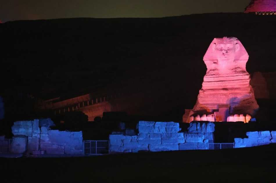 Illuminated Sound & Light Show at the Giza Pyramids