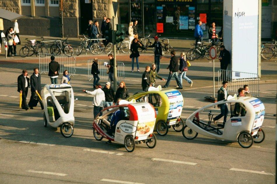 Tour Of Hamburg By Bike And Rickshaw