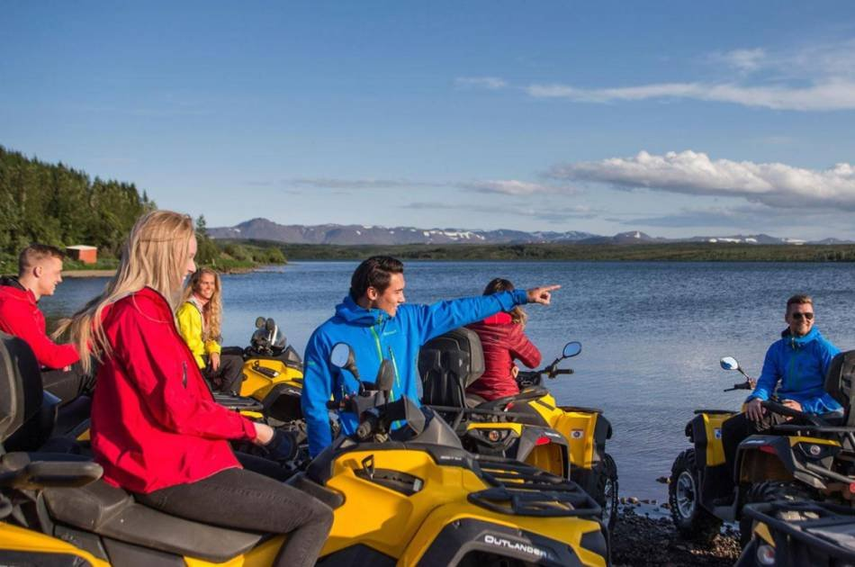 ATV Sightseeing Trail Ride on Mt. Hafrafell and Golden Circle