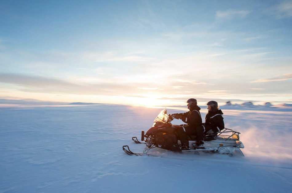 Inside the Glacier and Snowmobile Adventure