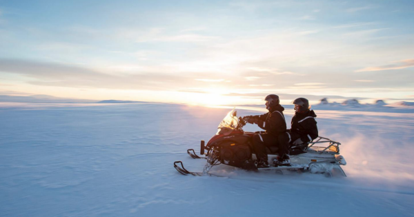 Inside the Glacier and Snowmobile Adventure