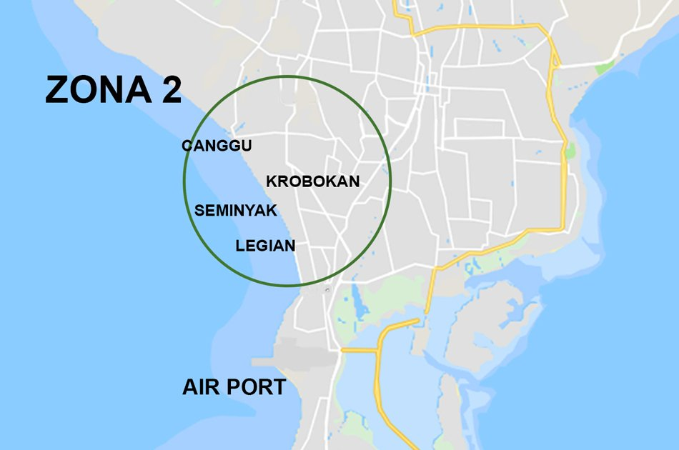 Bali Airport Pick up and Transfer to Zone 2