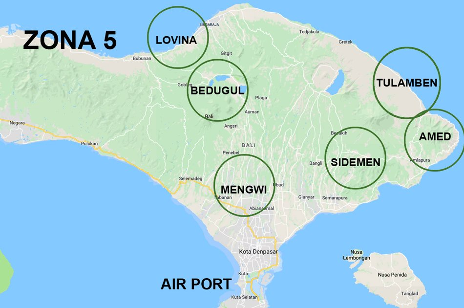 Bali Airport Pick up and Transfer to Zone 5