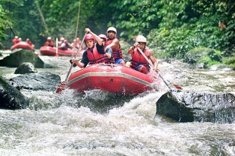Bali River Rafting and Tanah Lot Sunset Tour