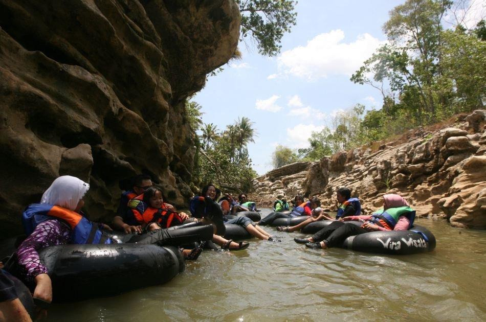 Jomblang Cave - Pindul Cave and Oyo River Tubing Tours Yogyakarta