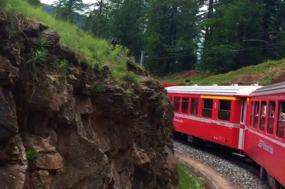 Bernina Train and St. Moritz
