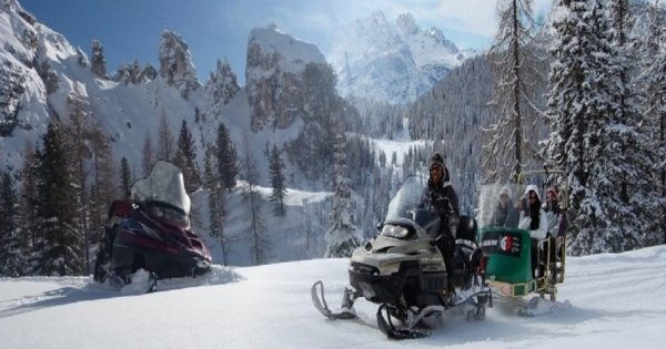 "Bolzano Snowmobile, Sledding & "" Great Dolomites Road"" Private Tour"