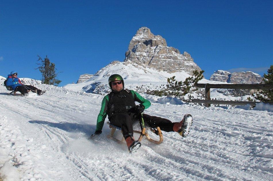 "Bolzano Snowmobile, Sledding & "" Great Dolomites Road"" Private Tour"