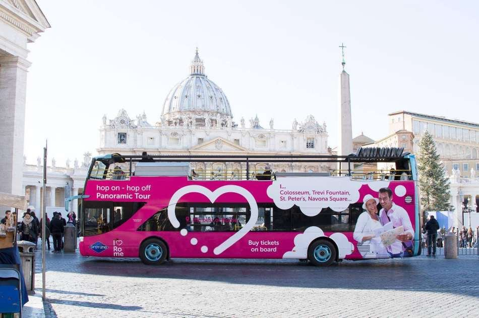 I Love Rome Hop on Hop Off Panoramic Tour (Valid for 24 Hours)