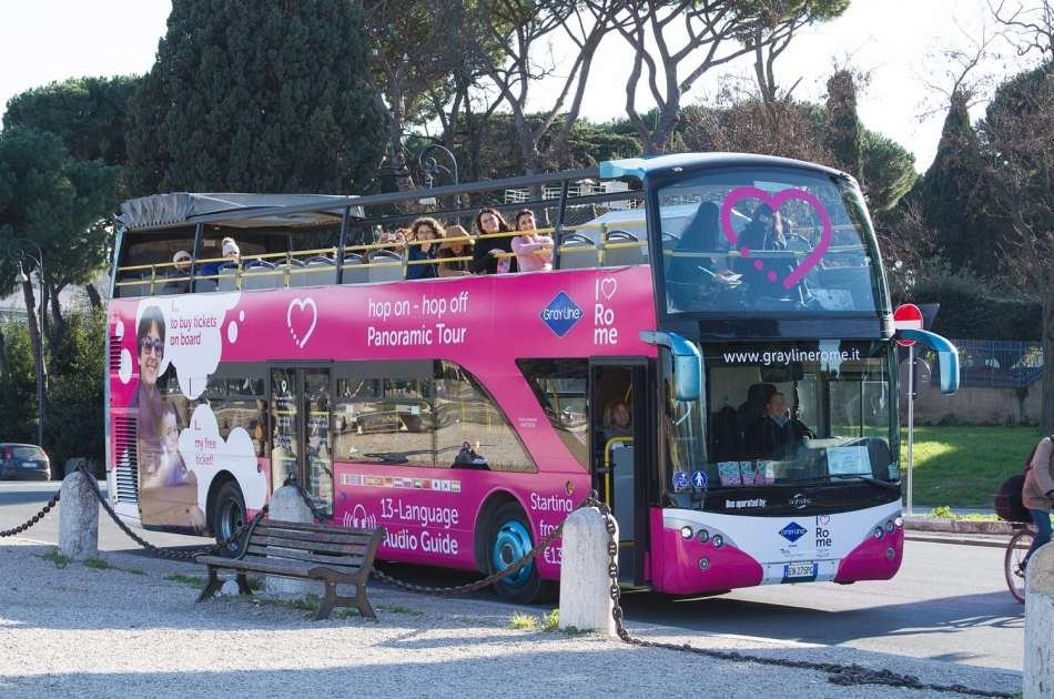 I Love Rome Hop on Hop Off Panoramic Tour (Valid for 72 Hours)