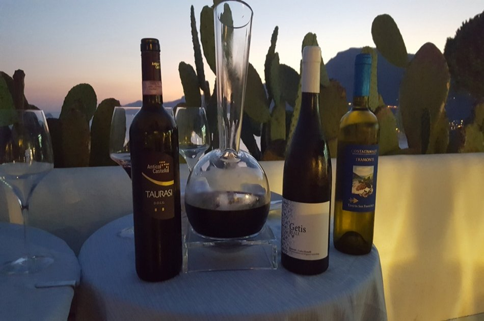 Wine Tasting and Dinner at Sunset in Praiano