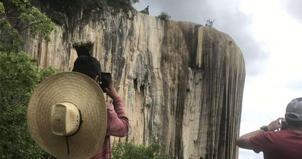 Walk through the Petrified Waterfalls of Hierve el Agua, Oaxaca