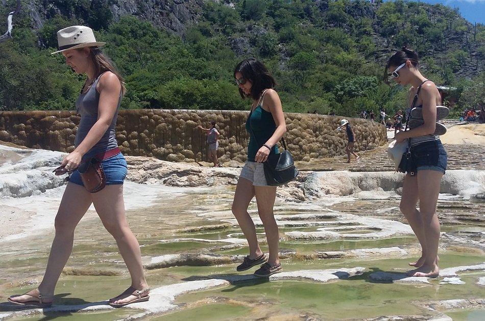 Walk through the Petrified Waterfalls of Hierve el Agua, Oaxaca