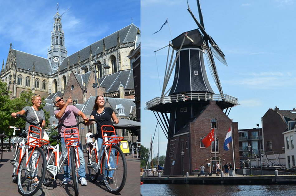 Guided City Bike Group Tour in Haarlem