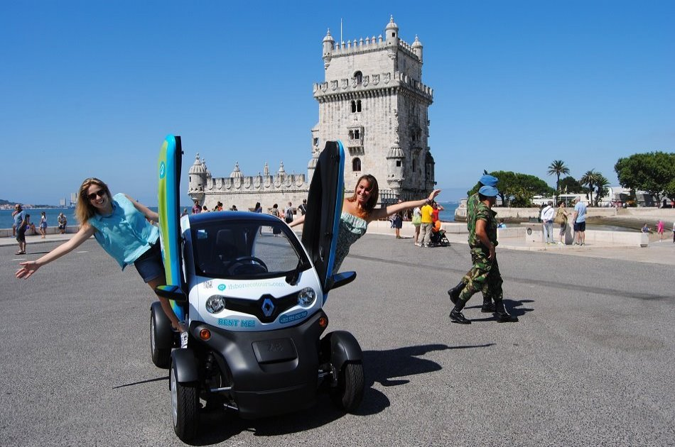 Full Day tour in Lisbon by electric car (Twizy) with Audio Guide