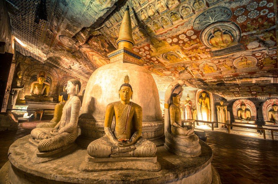 Sigiriya Rock and Dambulla Cave Full Day Tour from Colombo