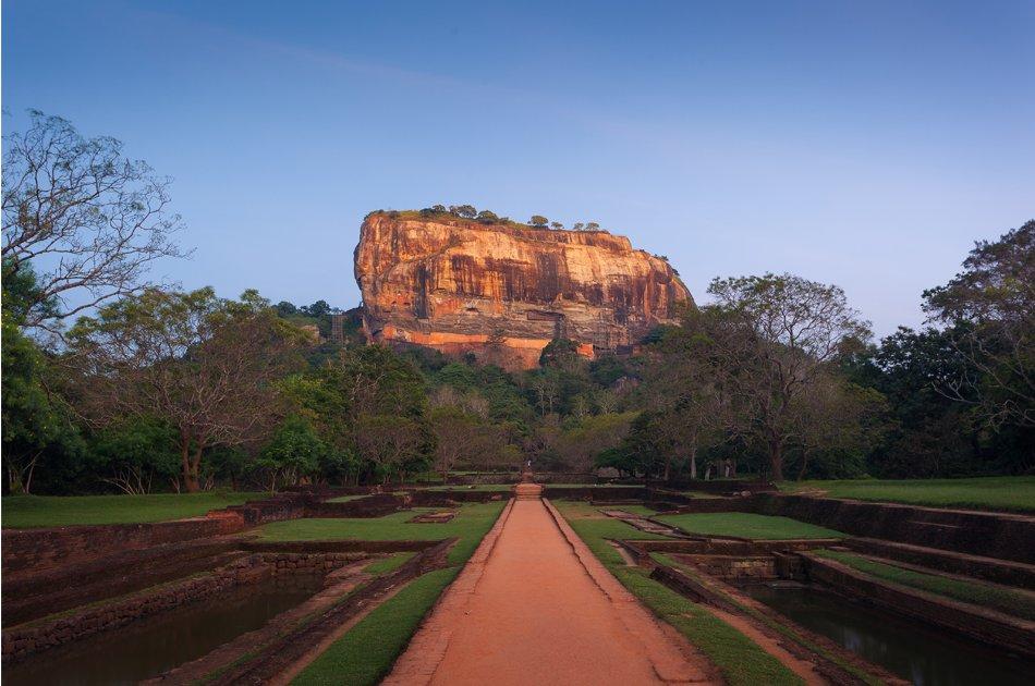 Sigiriya Rock and Minneriya from Kandy