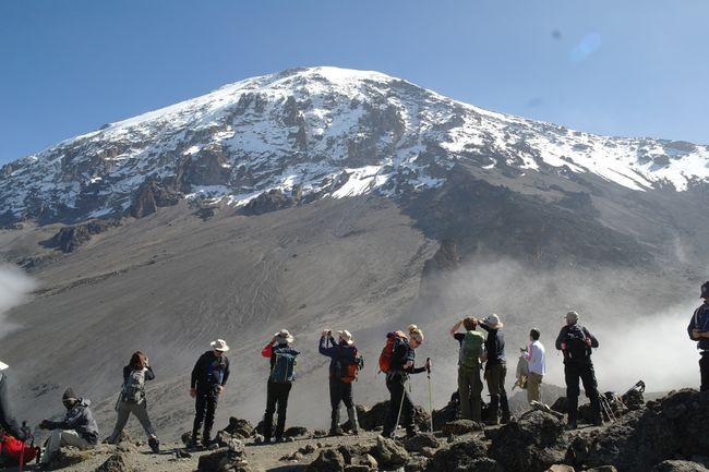 Lemosho route 8 days climbing Mount Kilimanjaro