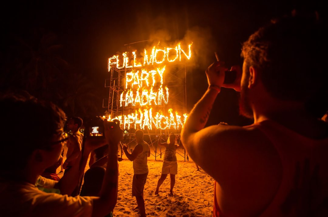Thai Full Moon Party at Haat Rin and Koh Phangan