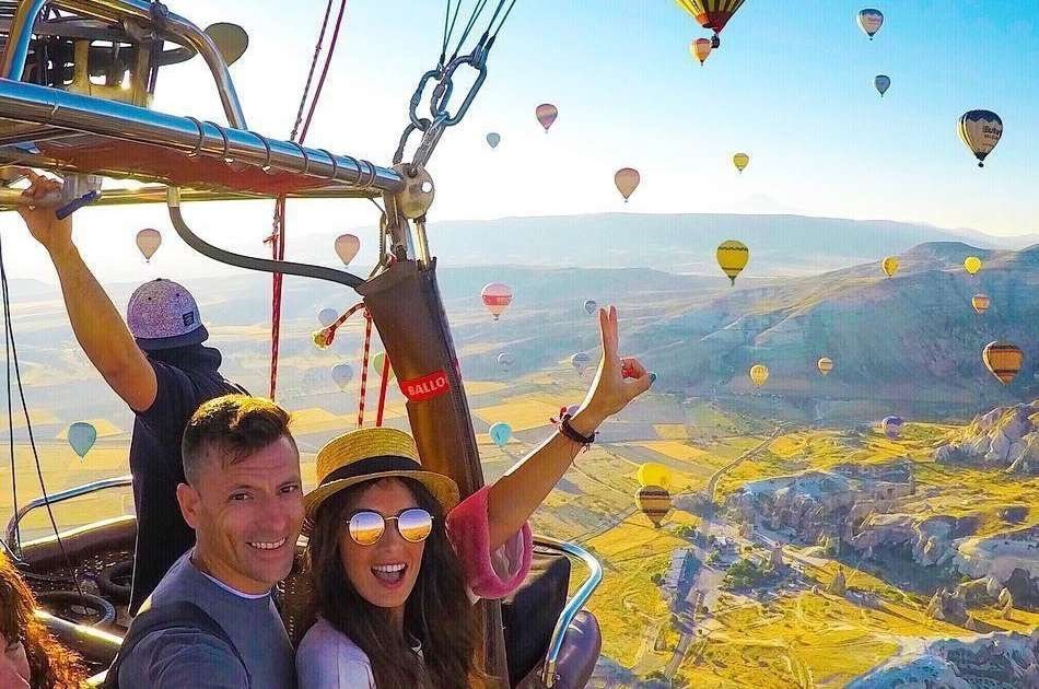 Green Tour Activity Bundle Option 2 in Cappadocia With Hot Air Balloon