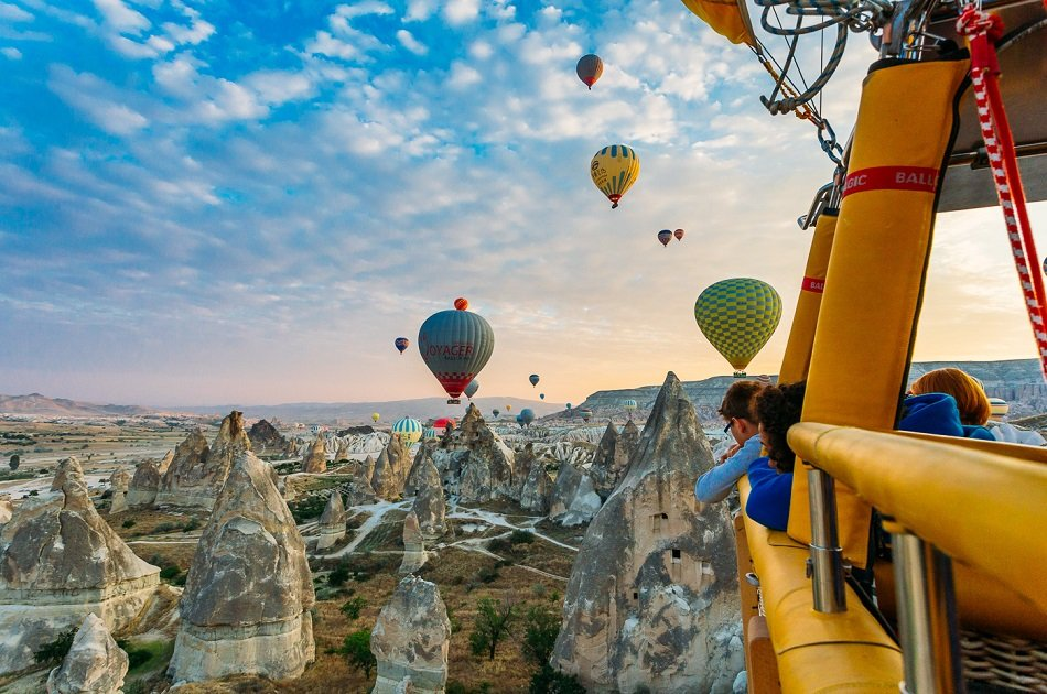 Istanbul To Cappadocia 3 days Small Group Tours by Plane+Hot Air Balloon Tour