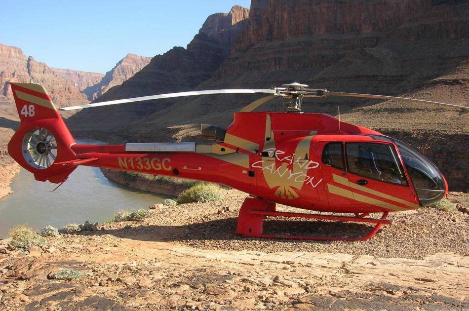 Grand Canyon West Rim by Luxury Limo Van With Helicopter and Pontoon Ride