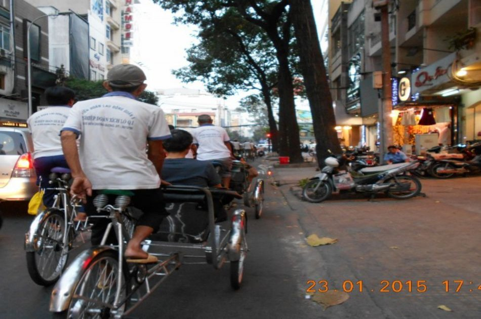 Ho Chi Minh City by Night Tour on a Cylco