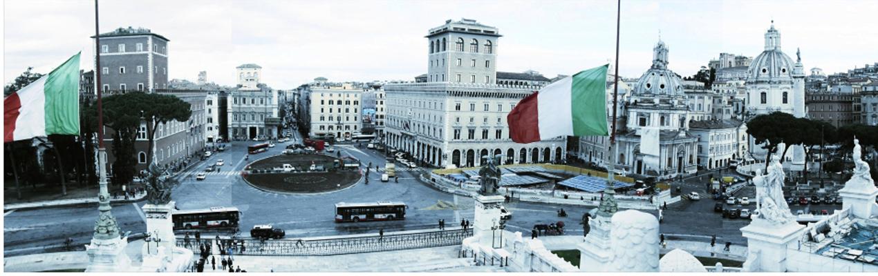 """Central Hub of Rome """"Piazza Venezia"""""""